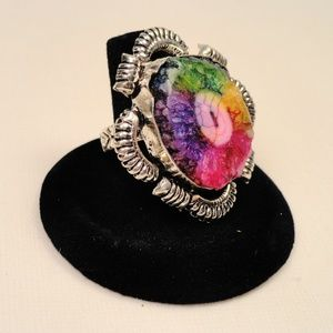 Jewelry - Rainbow Solar Quartz gemstone .925 silver Ring